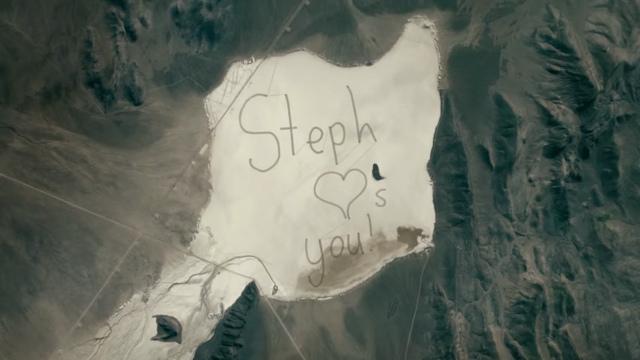 Mensaje visto desde el espacio.