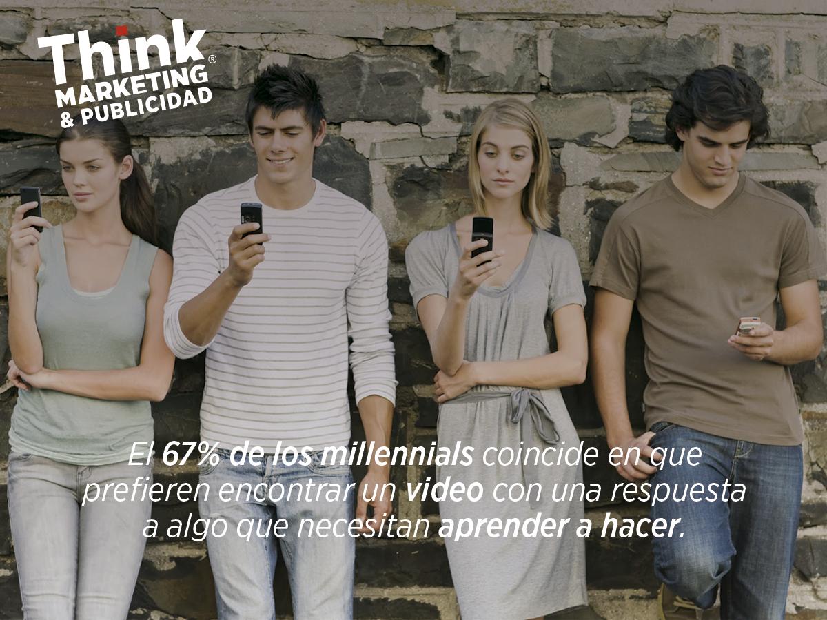 Millennials y los tutoriales en vídeo.