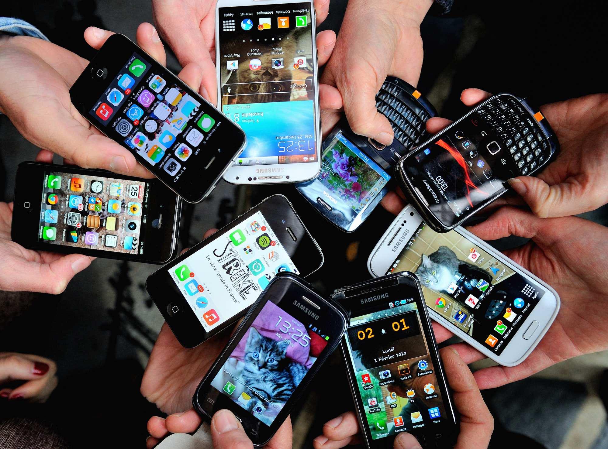 El mobil en manos de todos.