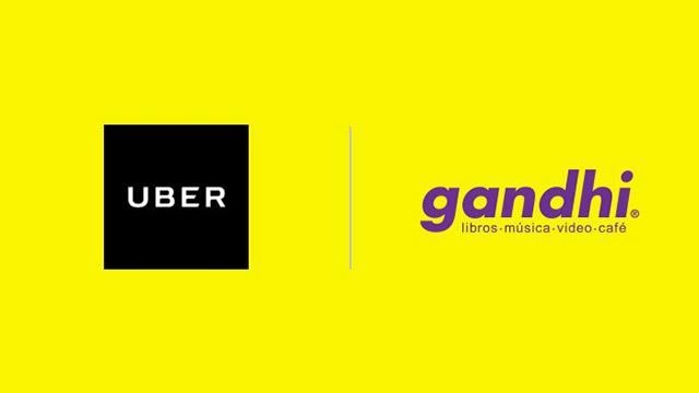 Uber y Gandhi en alianza.