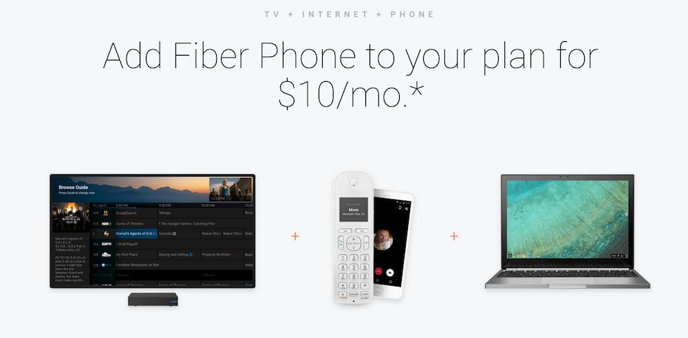Fiber Phone, el teléfono fijo de Google.