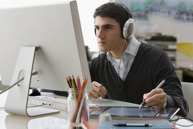 Música en el trabajo.